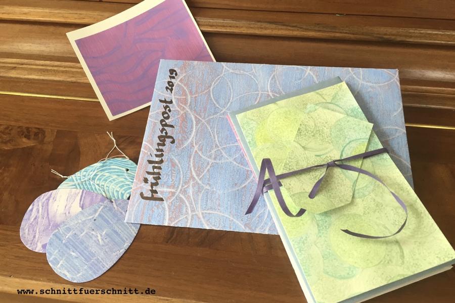 Frühlingspost 2019: Kleisterpapier in Pastell